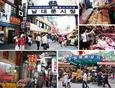 Chợ Namdaemun nơi du khách có thể mua thực phẩm, hanbok,